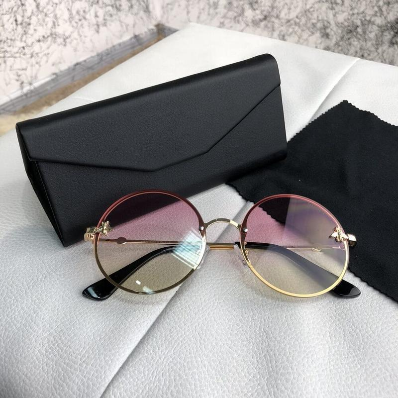 Очки солнцезащитные sunglasses circle with bee gold/light pink