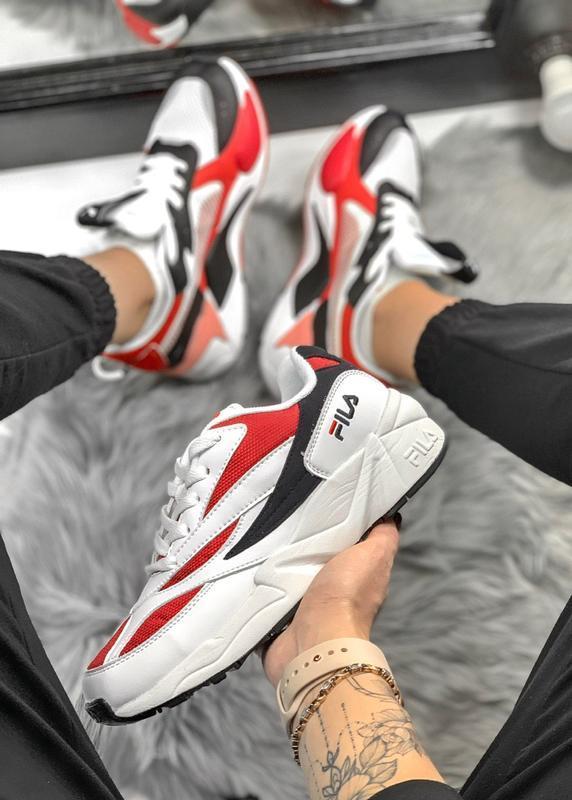 Кроссовки fila white/red