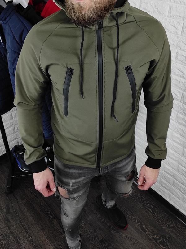 Мужская куртка на флисе