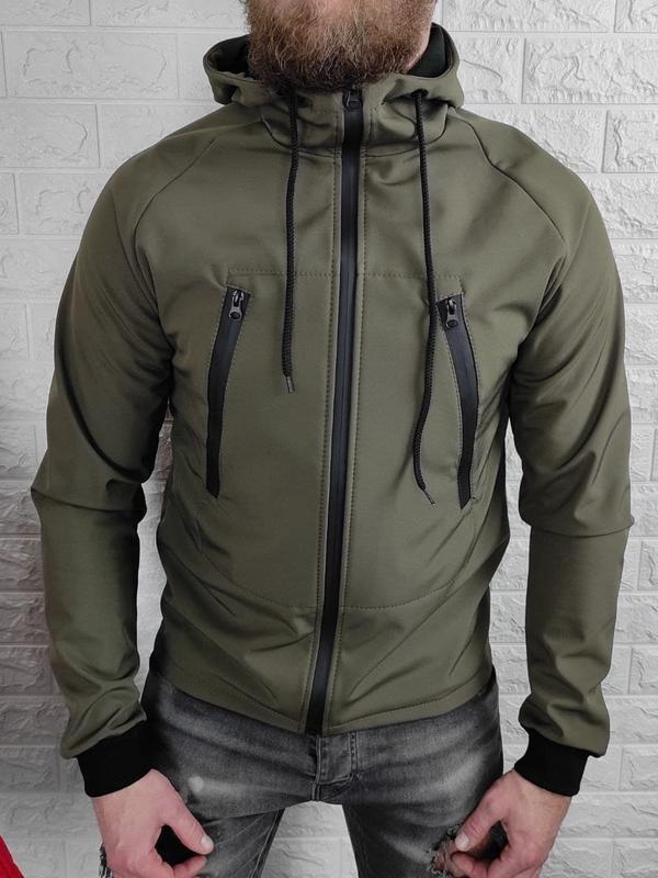 Мужская куртка на флисе - Фото 2