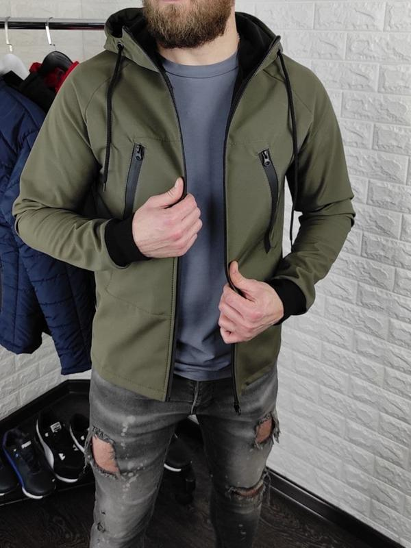 Мужская куртка на флисе - Фото 3