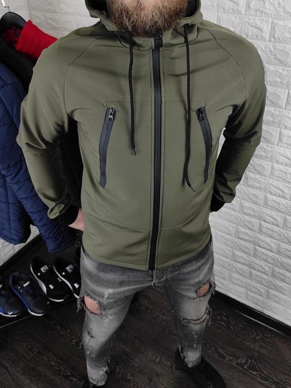 Мужская куртка на флисе - Фото 4