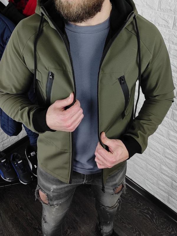 Мужская куртка на флисе - Фото 5
