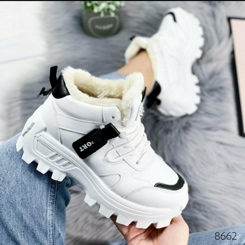 Утепленные кроссовки евро зима осень женские кросівки деми тол... - Фото 2
