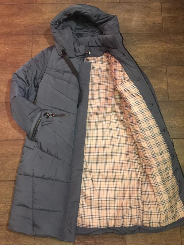 Продам женскую зимнюю длинную куртку, пуховик. большие размеры! - Фото 4