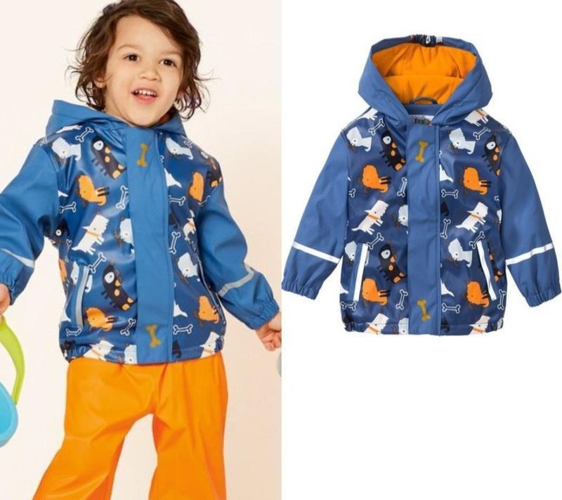 Куртка непромокаемая дождевик на флисе lupilu 110-116