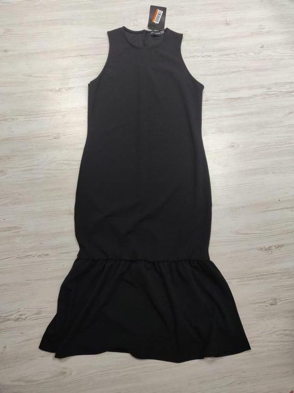👑♥️final sale 2019 ♥️👑   стильное платье миди по фигуре с оборкой