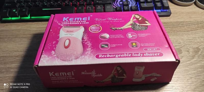 Kemei KM-187 Женский беспроводной аккумуляторный эпилятор/бритва
