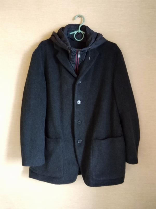 Шерстяной пиджак блейзер жакет с капюшоном  hugo boss