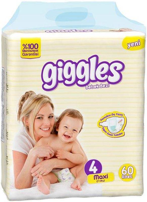 Подгузники Giggles Maxi (7-18 кг) 60 шт
