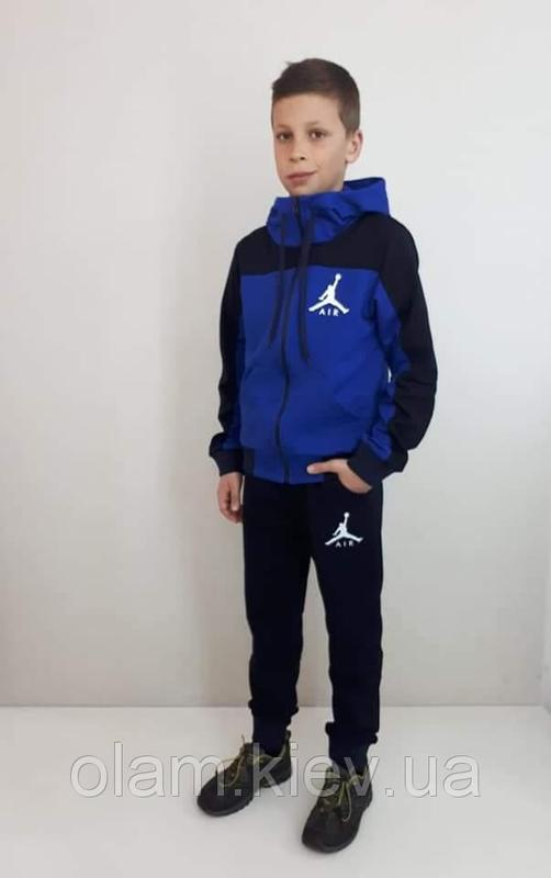 Костюм спортивный двухнить AIR электрик/темно-синий для мальчика