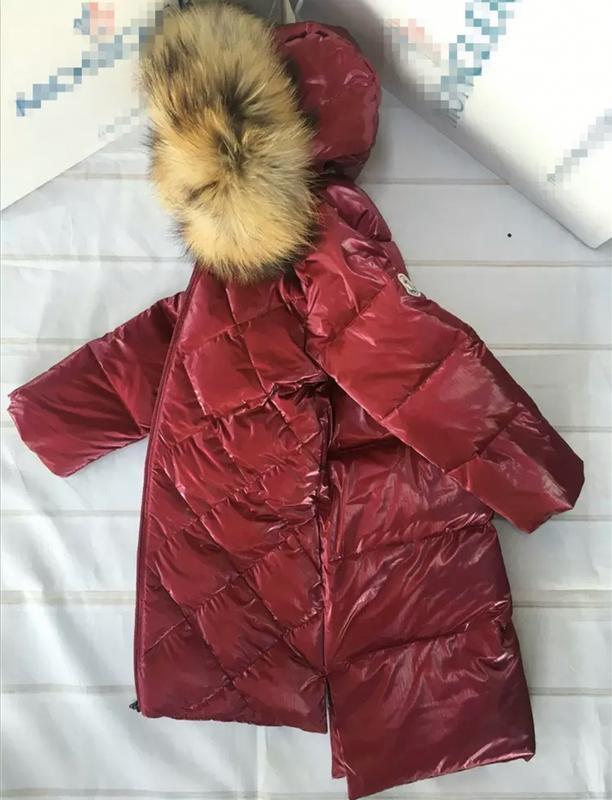 Куртка пуховик с натуральным мехом монклер moncler