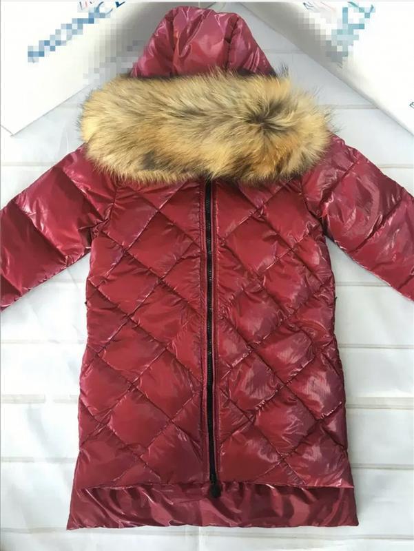 Куртка пуховик с натуральным мехом монклер moncler - Фото 2