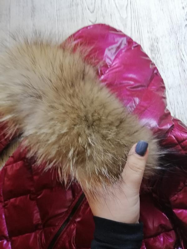 Куртка пуховик с натуральным мехом монклер moncler - Фото 3