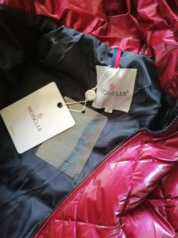 Куртка пуховик с натуральным мехом монклер moncler - Фото 5