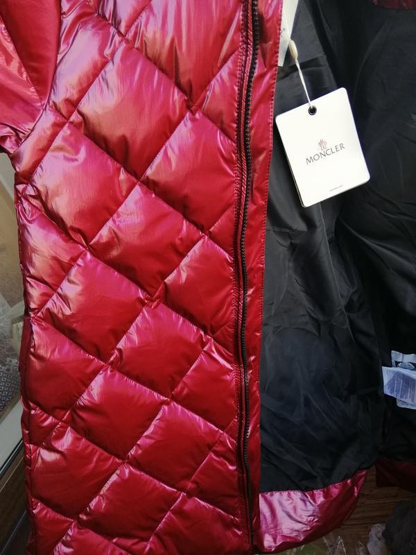 Куртка пуховик с натуральным мехом монклер moncler - Фото 8