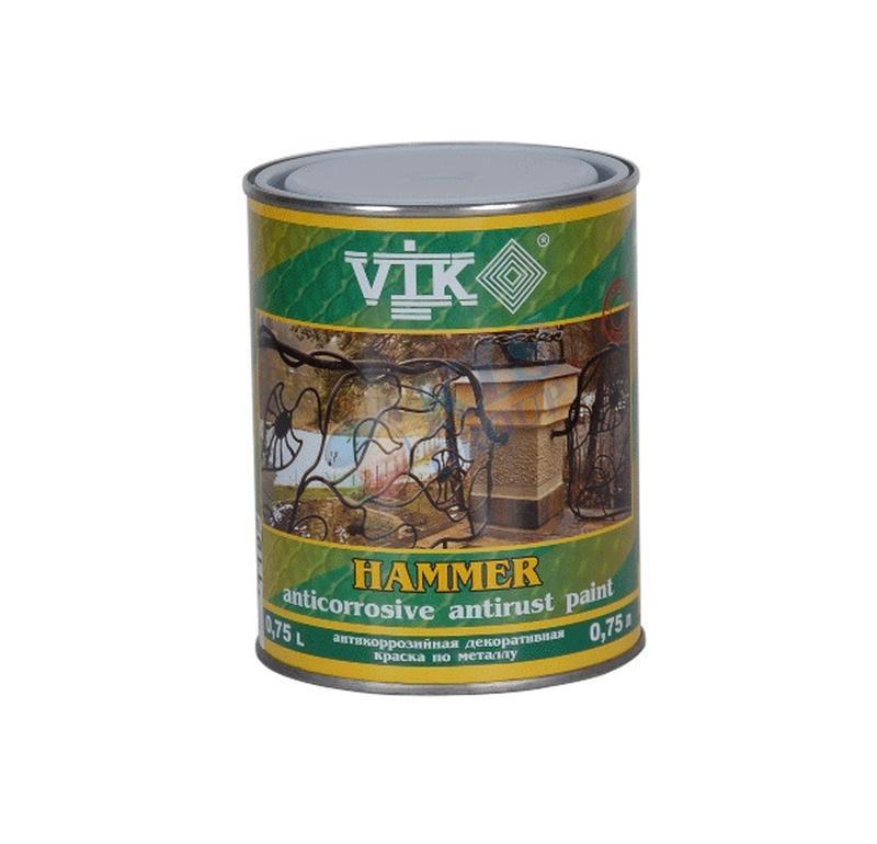 Краска Vik Hammer Молотковая (2, 5 л) бронза