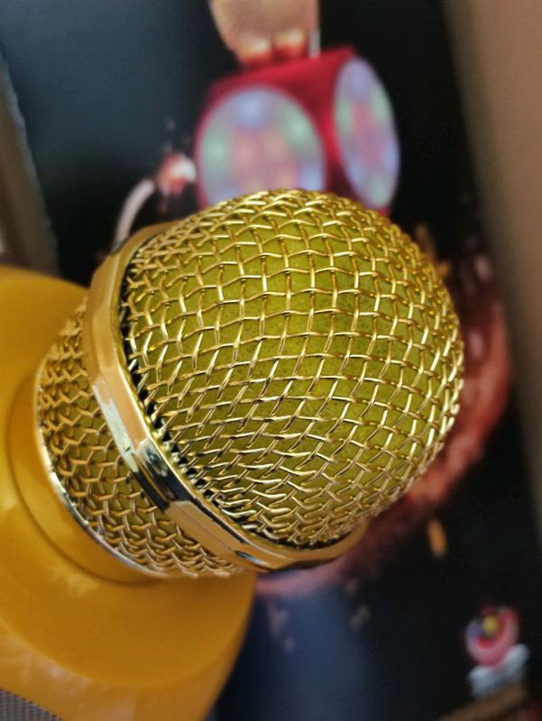 Микрофон с функцией караоке  WS-1816 Жёлтые! - Фото 2
