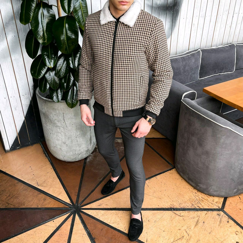 """Мужская куртка в стиле сasual сезона весна осень Jacket """"St.Trope - Фото 4"""