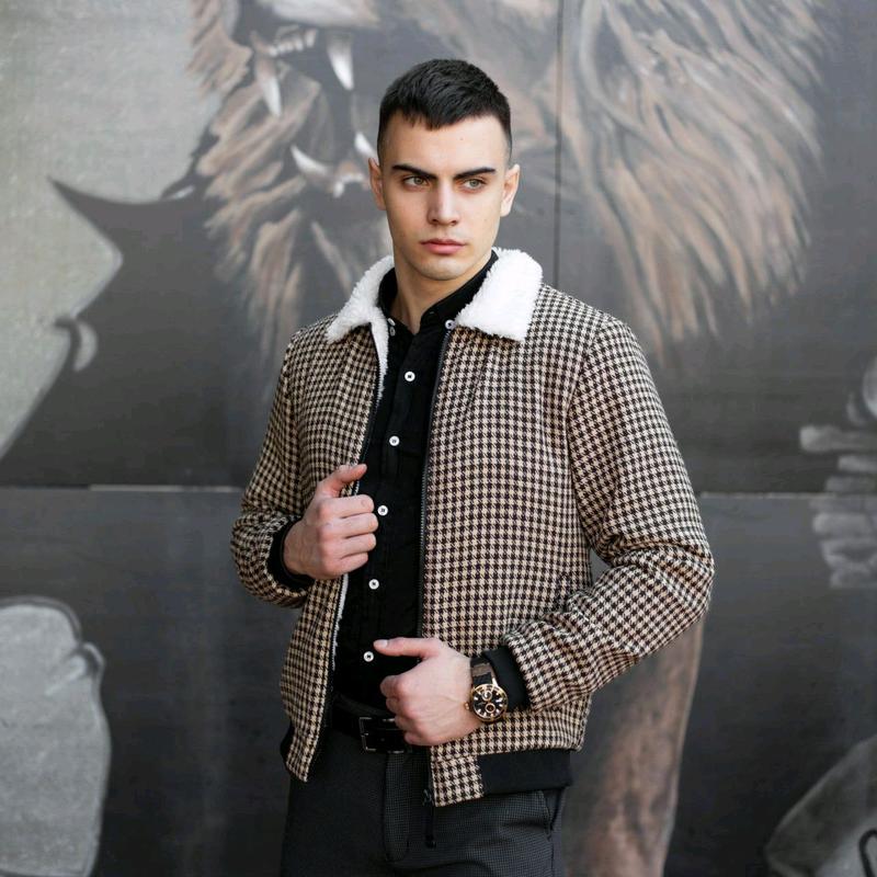 """Мужская куртка в стиле сasual сезона весна осень Jacket """"St.Trope - Фото 5"""