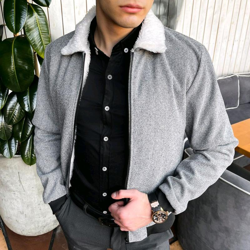 """Мужская куртка в стиле сasual сезона весна осень Jacket """"St.Trope - Фото 7"""