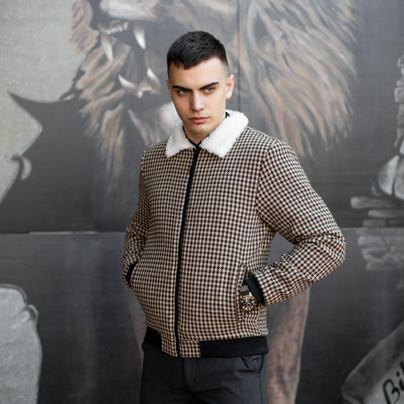 """Мужская куртка в стиле сasual сезона весна осень jacket """"st.tr... - Фото 2"""
