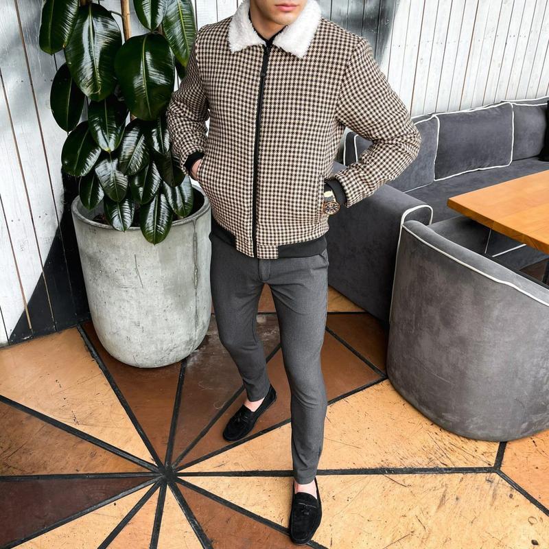 """Мужская куртка в стиле сasual сезона весна осень jacket """"st.tr... - Фото 5"""