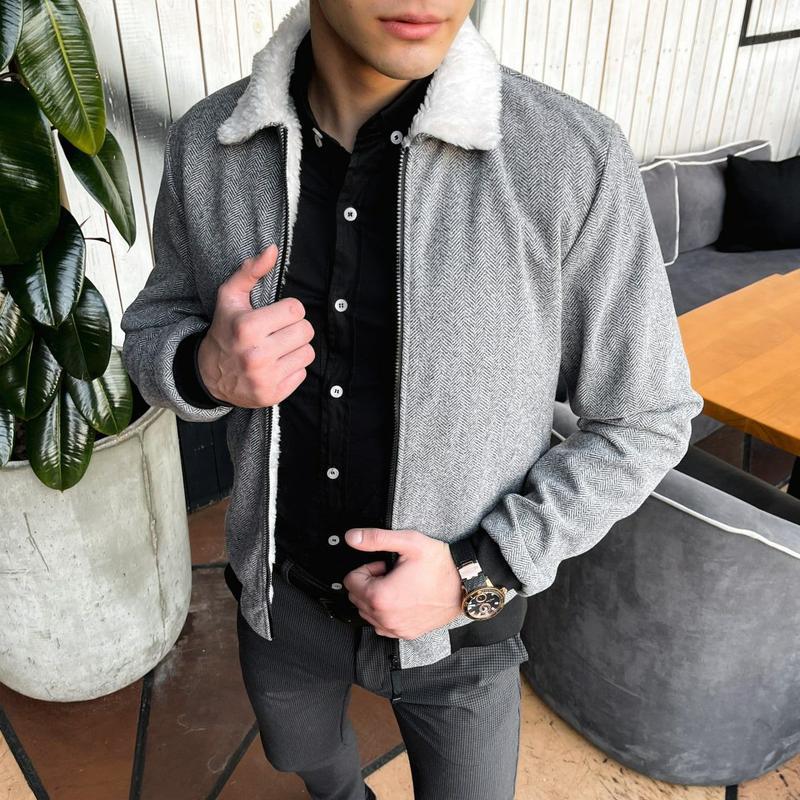 """Мужская куртка в стиле сasual сезона весна осень jacket """"st.tr... - Фото 3"""
