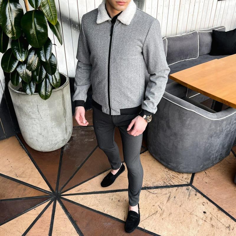 """Мужская куртка в стиле сasual сезона весна осень jacket """"st.tr... - Фото 4"""