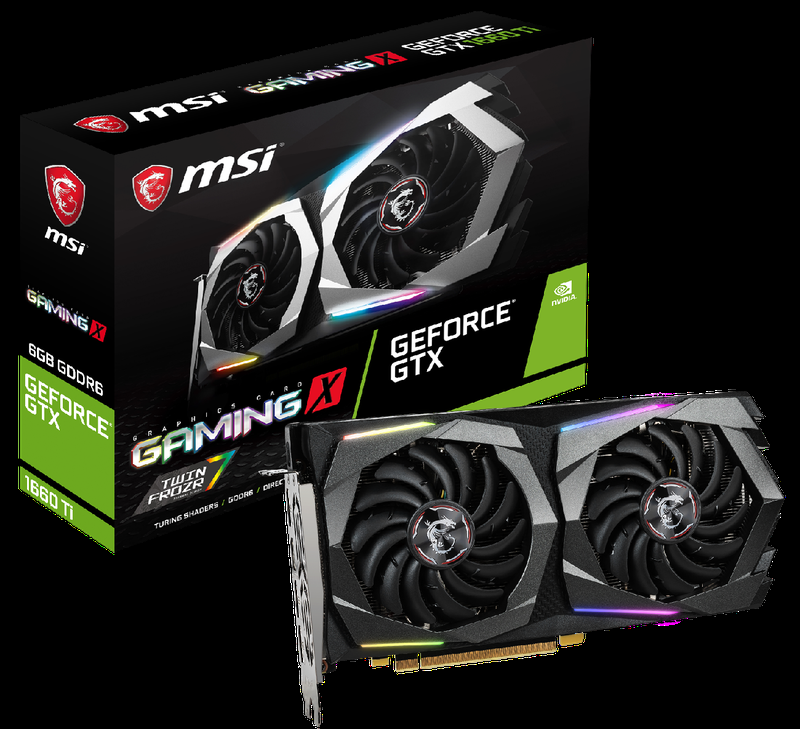 Видеокарта MSI GeForce GTX 1660 Ti Gaming X (Под заказ 3 дня)