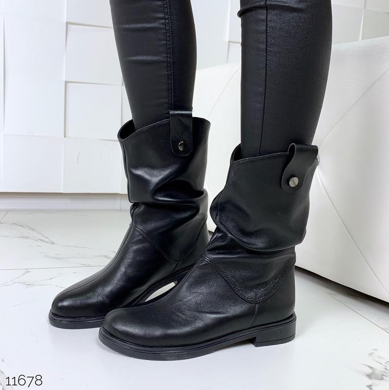 Стильные ботинки из натуральной кожи {зима или деми на выбор}