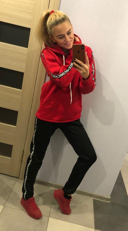 Женский спортивный костюм на флисе худи+штаны
