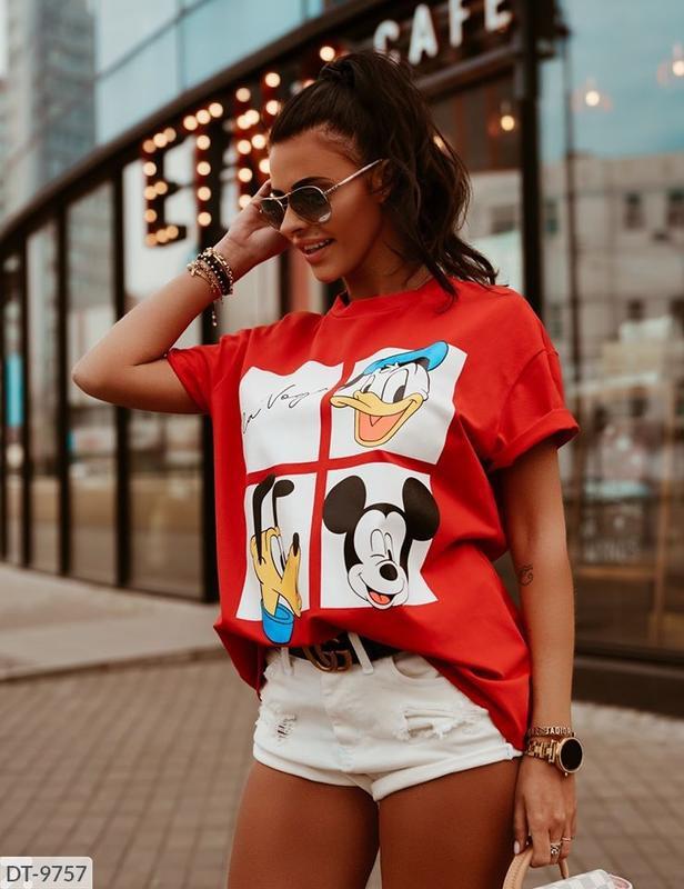 Женская футболка,принт дисней-3 расцветки