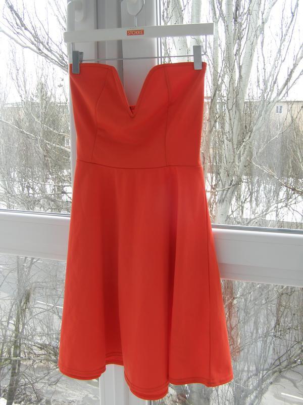 Missguided платье красного цвета m-l размер