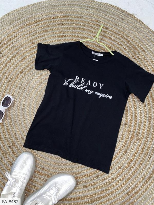 Женская футболка с надписями 2 расцветки