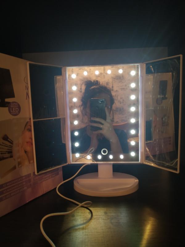 Зеркало настольное, косметическое с подсветкой для макияжа????