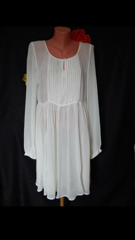 Прозрачное платье туника с длинным рукавом tall - Фото 2