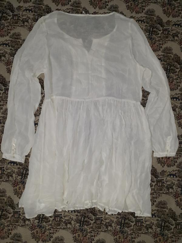 Прозрачное платье туника с длинным рукавом tall - Фото 4