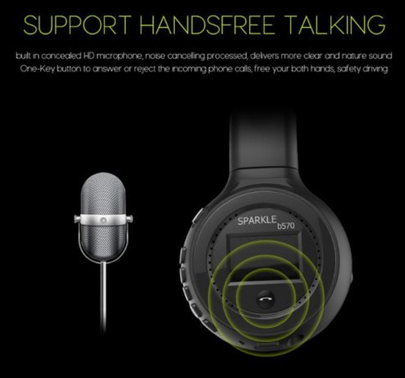 Беспроводные Bluetooth Наушники Складные Hi-Fi Стерео Zealot B... - Фото 7