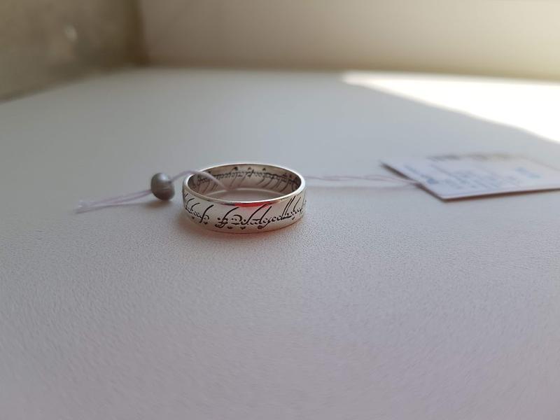 Серебряное эльфийское кольцо властелин колец, кольцо всевластия