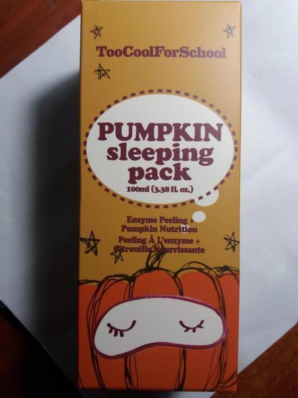 Ночная маска с экстрактом тыквы too сool for school pumpkin sl...