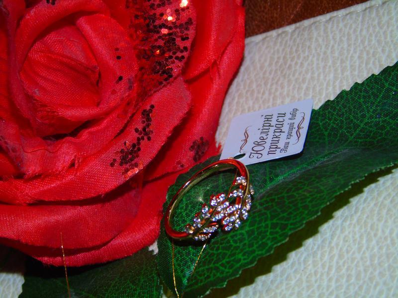 Кольцо листик/медицинское золото/позолота 18 каррат