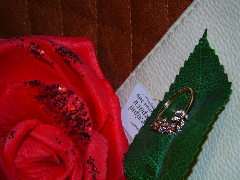 Кольцо листик/медицинское золото/позолота 18 каррат - Фото 5