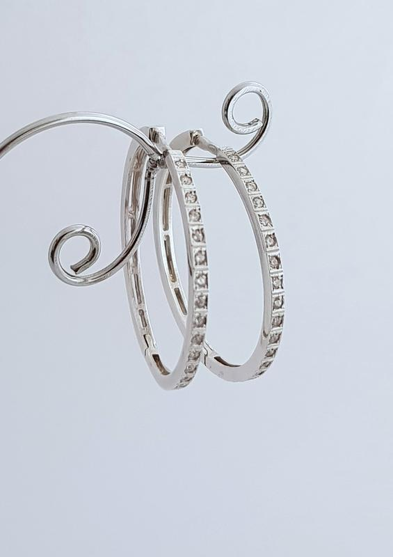 Серебряные серьги- кольца 925 проба