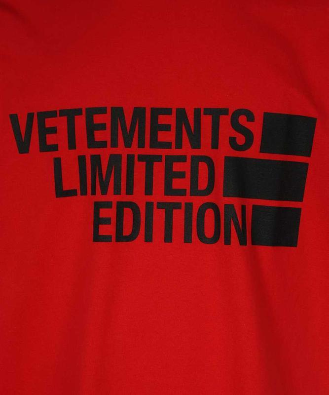 Фуболка красная vetements  | футболка vetemens | футболка вете...