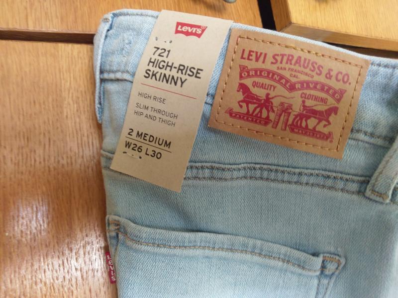 Levis 721 высокая талия. американские джинсы.