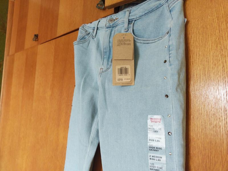 Levis 721 высокая талия. американские джинсы. - Фото 5