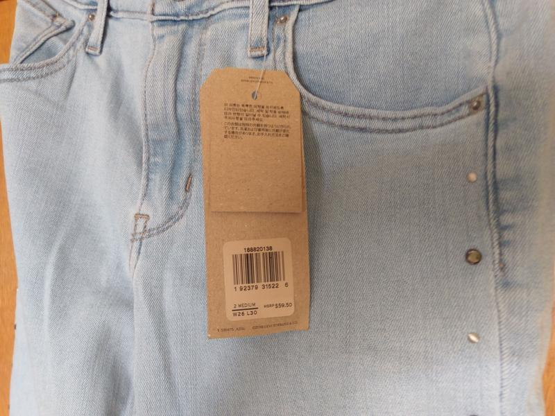 Levis 721 высокая талия. американские джинсы. - Фото 6