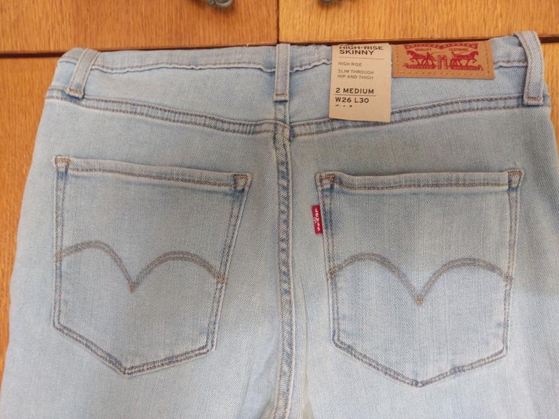 Levis 721 высокая талия. американские джинсы. - Фото 7