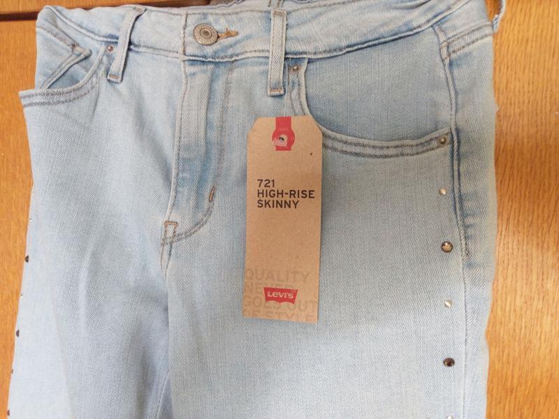Levis 721 высокая талия. американские джинсы. - Фото 8